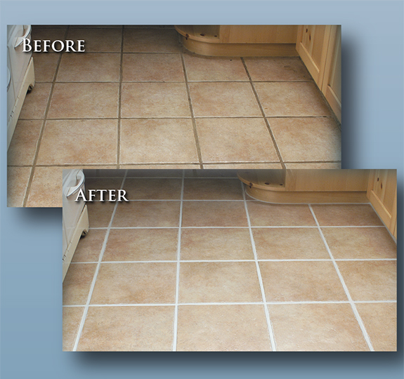 Tile color sealing